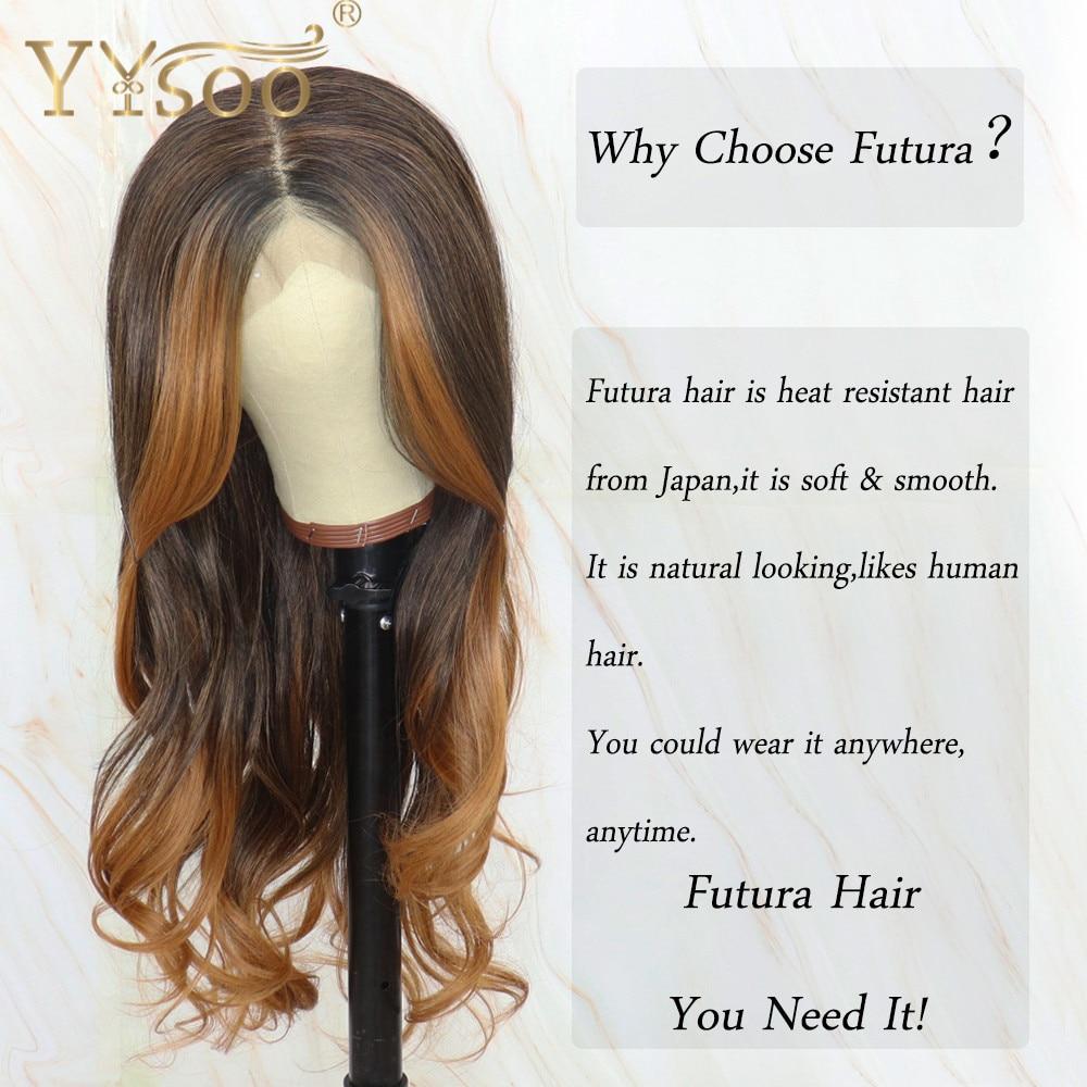 Yysoo long blonde baylayage cor futura lace