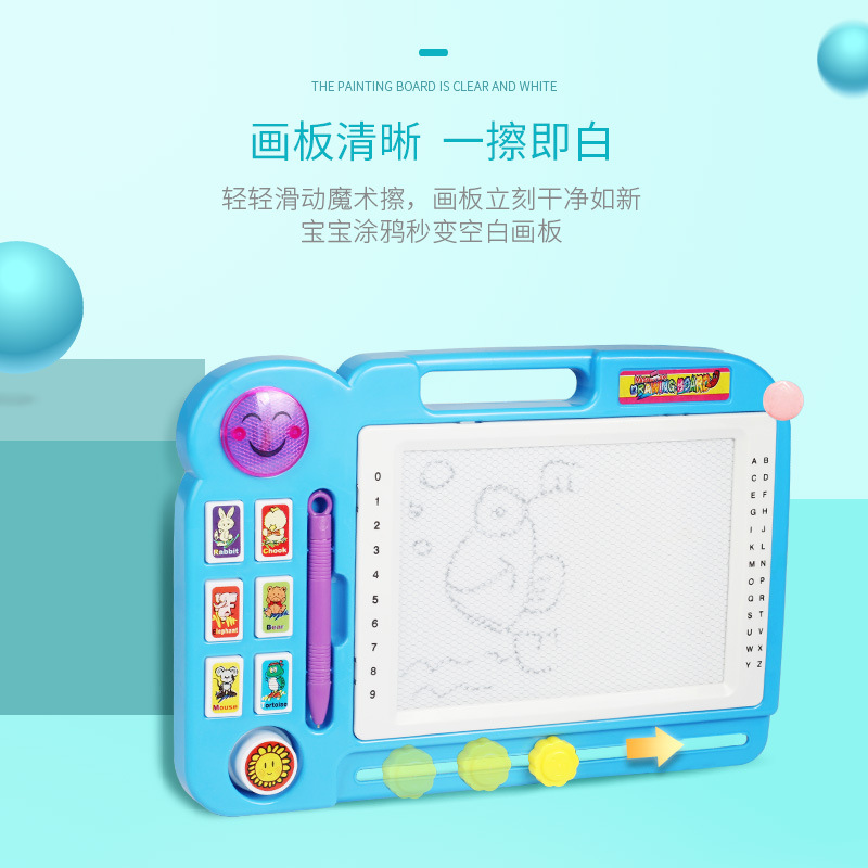 Large Size Children Magnetic Drawing Board Light Included Light Music Multi-functional Baby Educational Early Childhood Doing Ho
