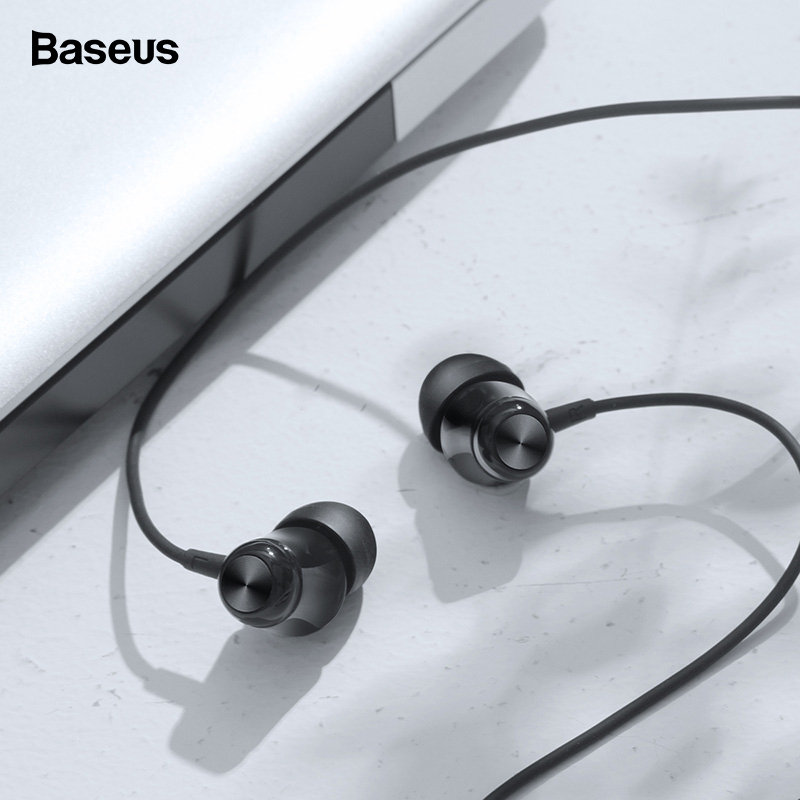 Baseus Wired Earphone In-Ear Earphones Bass Headset With Mic Earbud For IPhone Samsung Phone Earpiece Fone De Ouvido Auriculares
