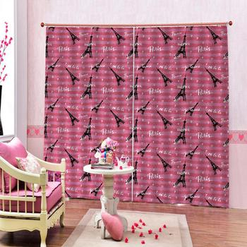 Custom Tower Curtain Pattern Customize Blackout Window Curtains for the Living Room bedroom home drapes