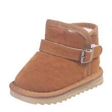 Дизайнерские зимние ботинки унисекс для малышей; Зимние на плоской