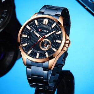 Image 2 - CURRENビジネスクォーツ時計男性用高級腕時計メンズブランドステンレス鋼腕時計レロジオ Masculino 防水時計