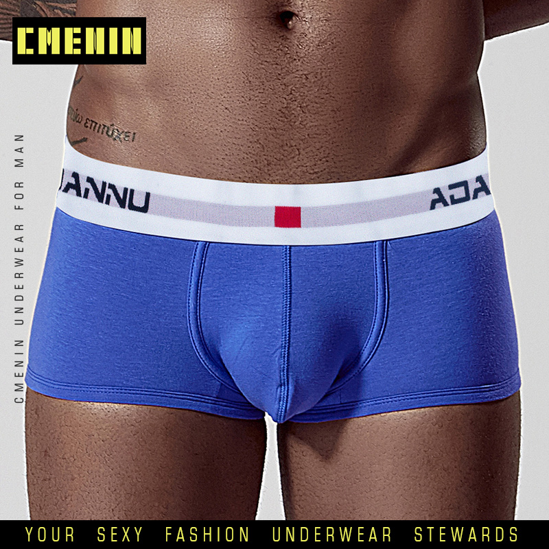 100% Cotton Men Underwear Boxer Mens Underpants Boxers Shorts Lingerie Cueca Male Panties Under Wear Breathable Boxershorts AD45