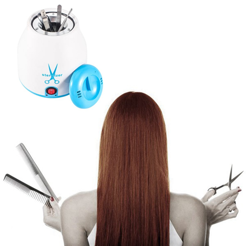 Professional Salon Barber Disinfection Jar Manicure Disinfection Cup Hairdressing Tools EU Plug