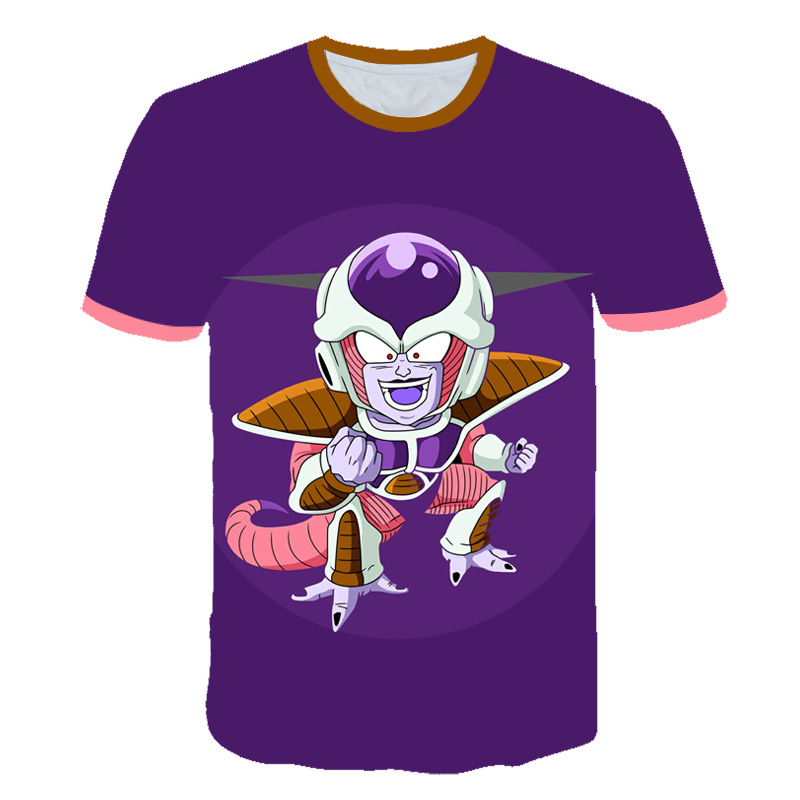 2020 Youth Summer children's seven dragon ball T-shirt 3D print animation street style T-shirt seven dragon ball shirt 100% poly