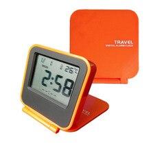 Мини флип портативный мантельный детский складной будильник квадратные Настольные часы термометр электронные часы