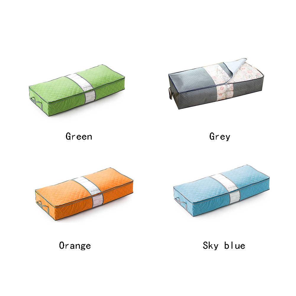 Non-Woven Family Save Space Storage Bag  Bed Under Closet Storage Box Clothes Divider Organiser Quilt Bag Holder Organizer