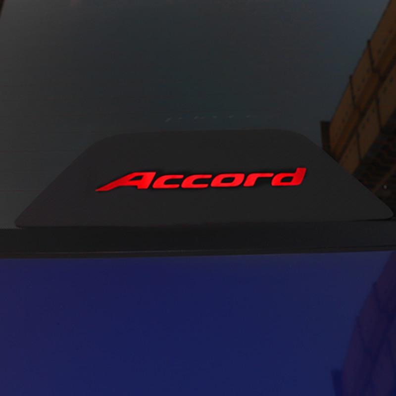 Автомобильные тормозные огни из углеродного волокна, декоративные крышки, наклейки с высоким креплением стоп-лампы для Honda Accord 2018 2019 модифи...