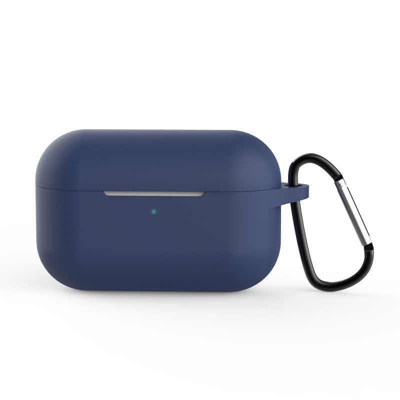 غطاء من السيليكون الغطاء الواقي لأبل Airpods برو TWS بلوتوث سماعة لينة غطاء سيليكون لحالات Airpods واقية