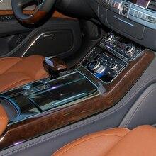 Для Audi A8 A8L 2012- центральная консоль управления, панель переключения передач, Автомобильный интерьер, невидимый бюстгальтер, защитная пленка, автомобильная наклейка