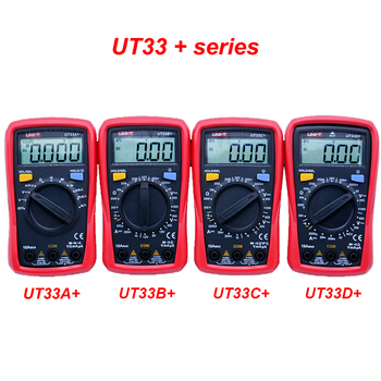 UNI-T UT33A+ UT33B+UT33C+UT33D+ Digital Multimeter capacitor tester AC DC voltmeter continuity test multimeter with thermocouple image
