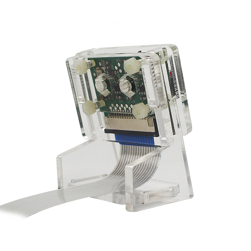 Hot 3C-Ov5647 Mini Camera Acrylic Holder Transparent Webcam Bracket For Raspberry Pi 3 Camera