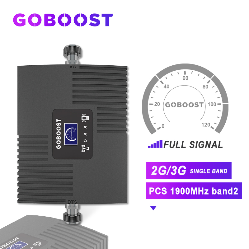 3G 2G Repeater 1900 3G Booster Signal 2G GSM Cellular Signal Booster PCS 1900MHZ For Mobile Phones Band2 Amplifier LCD Display #