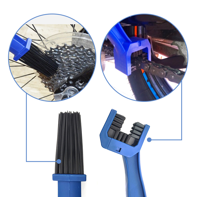 Motorcycle chain brush Cleaner Gear Grunge Outdoor Cleaner Scrubber Tool For Kawasaki Z1000SX H2R KLZ1000 Versys Z400 W800 Cafe