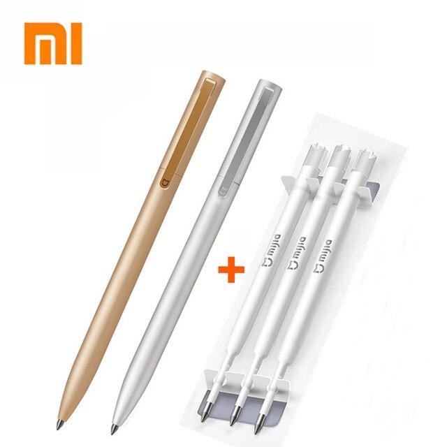 Оригинальная металлическая ручка Xiaomi Mi Pen 0,5 мм, Швейцария, заправка синими/черными/красными чернилами, ручки для подписи, шариковая ручка дл...