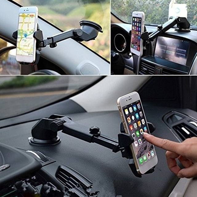 High Quality Car Phone Holder 360 Degrees Universal Smartphone Car Mount Holder Adjustable Phone Mounting Suction Cup Holder 2
