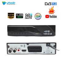 DVB-T2 Terrestrial digital receiver supports Dolby AC3 H.265/HEVC DVB-T h265 hevc dvb t2 hot sale Europe Czech Republic