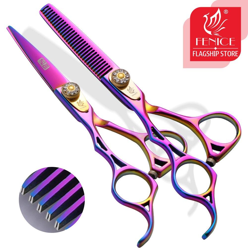 Fenice 5,5 дюймов ножницы для ухода за домашними животными фиолетовые ножницы для левшей JP440 набор ножниц инструмент для обрезки грумеров
