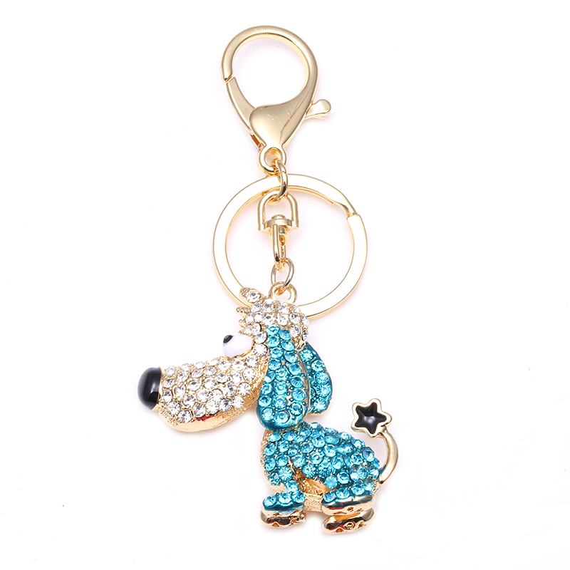 TOGORY, улыбка, мышь, опалы, кристалл, эмаль, сумочка, брелки, брелки для автомобиля, кошелек, сумка, пряжка, брелки, держатель для женщин - Color: KY06