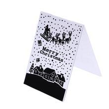 1 шт. Рождество Пластик шаблон ремесло изготовление бумажных карточек фотоальбом Свадебные украшения Скрапбукинг тиснение папка