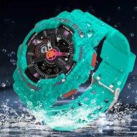 Luxus Digitale Uhr Für Männer Mode Sport Uhren Countdown Stoßfest Military Mann Uhr Top Marke SANDA Handgelenk Uhren 2021