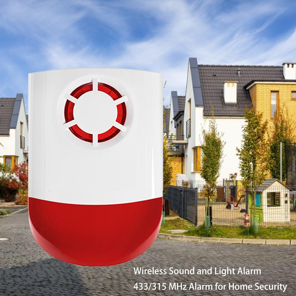 Wireless Siren Sound And Light Alarm 433/315 MHz Alarm For Home Security