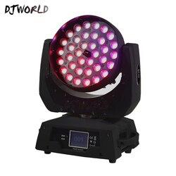 Hot-selling LEVOU 36x18W Zoom LED Moving Head Wash Zoom RGBWA + UV Luz DJ Tornar 6 cor No Salão Palco Discoteca Bar Night Club