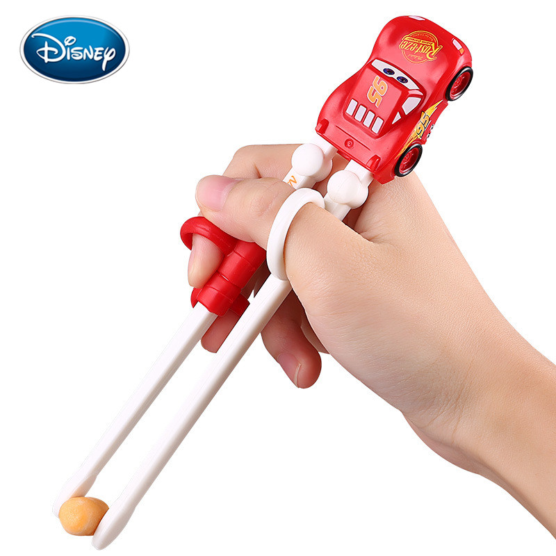 Disney Cute Chopsticks For Kids Baby ABS Cartoon Learning Reusable Training Helper Chopsticks Home Baby Products Right Hand