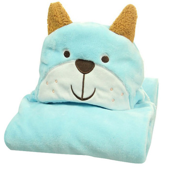 Flannel Mantle Infant Cloak Soft Cute Babies' Cloak Hooded Animal Bath Towel