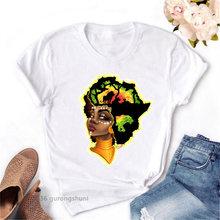 Я сильная меланин queen Футболка женская одежда Африканский