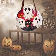 Halloween Candy Tote Bag Pumpkin Ghost Shaped Paper Box Cookie Gift Bag Hallween Party Accessories Kid Children Gifts(China)