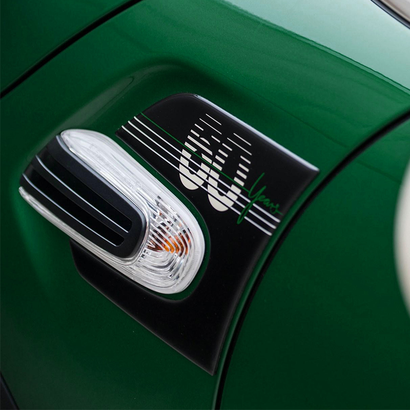 Car 60 Years Anniversary Epoxy Stickers Outlet Handle Gear Interior Sticker For <font><b>Mini</b></font> <font><b>Cooper</b></font> S JCW F55 <font><b>F56</b></font> Hatchback Accessories image