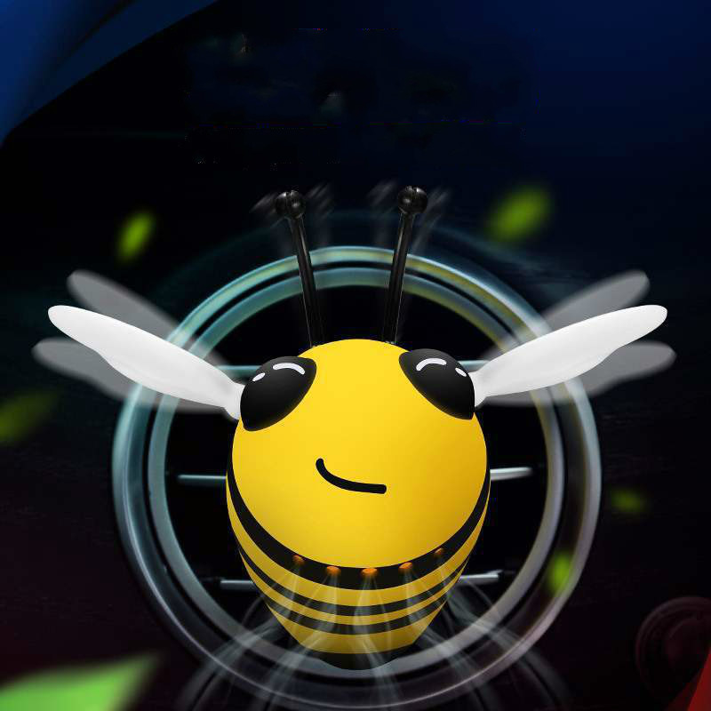 Car Aromatherapy Bee Model Car Perfume Decoration Air Conditioner Outlet Decoration Cute Creative Purify Air And Lasting Fragran
