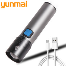 Yunmai Led Flashlight LED light Rechargeable Small Scout Torch Easy to carry 4 Modes built-in battery(China)