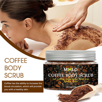 Coffee Scrub Body Scrub Cream Treatment Acne Facial Dead Sea Salt For Exfoliating Whitening Moisturizing Anti Cellulite  TSLM1 1
