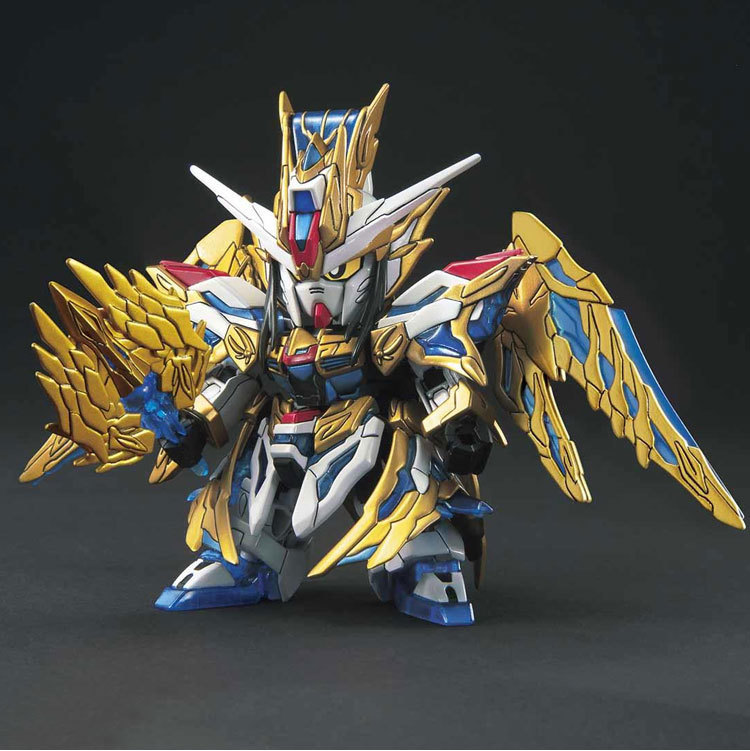 Bandai Model 58185 SD <font><b>BB</b></font> Three Kingdoms Chuangjie 20 Free <font><b>Gundam</b></font> Zhuge Liang Kong Ming <font><b>Gundam</b></font> PVC Action Figure Toys image