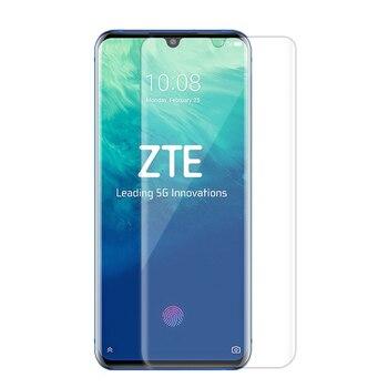 Перейти на Алиэкспресс и купить Премиум 5D УФ жидкий полный клей покрытие закаленное стекло для ZTE Axon 10 Pro Axon10Pro Защитная пленка для экрана