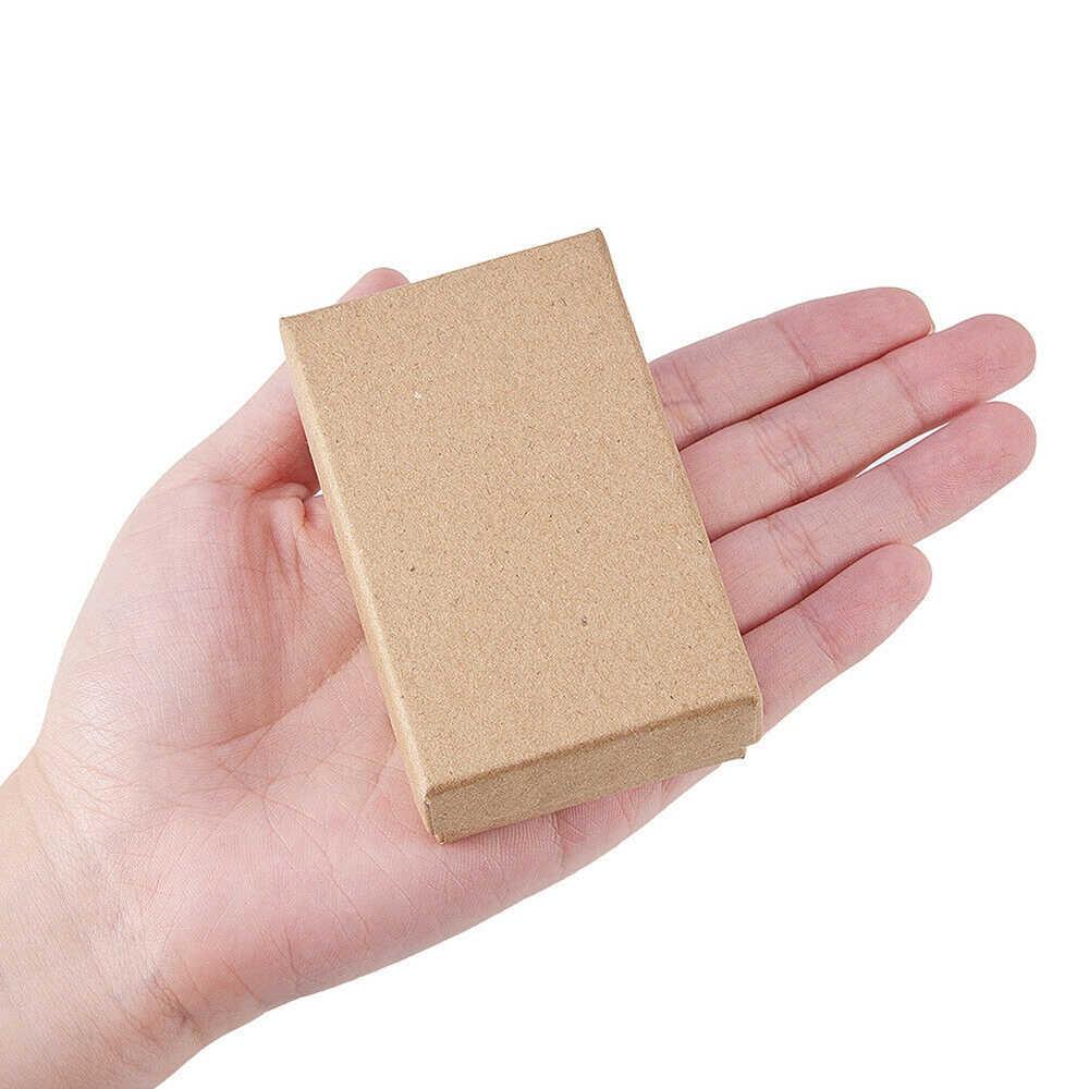 24pcs Kraft Paper Jewelry Gift Storage Box Wedding Favors Birthday Party Christmas Gift Ideas Box
