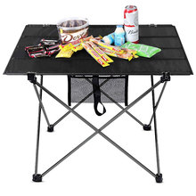 Przenośny stół kempingowy składane meble ogrodowe składane ultralekkie biurko ze stopu aluminium piknik wędkarski Camping mocny stół tanie tanio KAFCAMP About720g 58*8cm Oxford Cloth Waterproof Max Load 15kg 6061 Aluminum alloy Outdoor Table With storage bag
