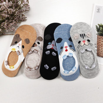 27 Style 10 Piece=5 Pairs/Lot Cute Harajuku Animal Women Socks Set Funny Spring Cat Dog Rabbit Panda Low Cut Short Sock Happy