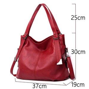 Image 2 - 2020 популярная роскошная сумка, женские сумки, высокое качество, кожаные сумки через плечо, женская сумка тоут, большая емкость, женская сумка на плечо, Sac A Main
