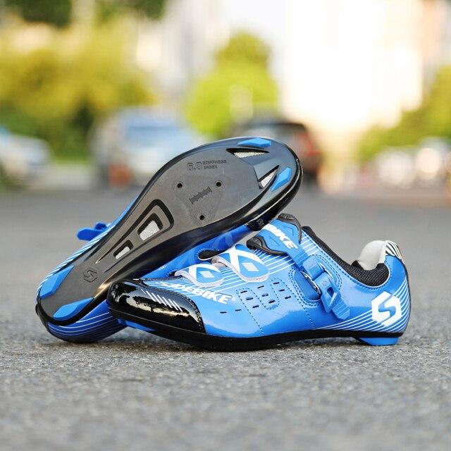 Tênis profissional sidebike, tênis de ciclismo de estrada, masculino, atlético, auto-travamento, prático 3