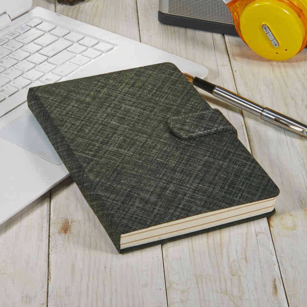Business Notebook Student Notepad Cashmere Wool Cloth Diary Leather Surface Thickening Office Notebook Fashion A5 Hardcover Book