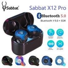 سماعة أذن لاسلكية من Sabbat X12 Pro TWS طراز BT 5.0 مزودة بمراقب HIFI مع خاصية الضوضاء داخل الأذن سماعات رياضية صندوق شحن محمول PK X12 شحن مجاني