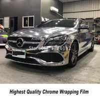 Highest quality silver Chrome Vinyl Wrap Car Film Stretchable Chrome Mirror Vinyl Wrap With Air Bubble Free 5ft X 59ft/Roll