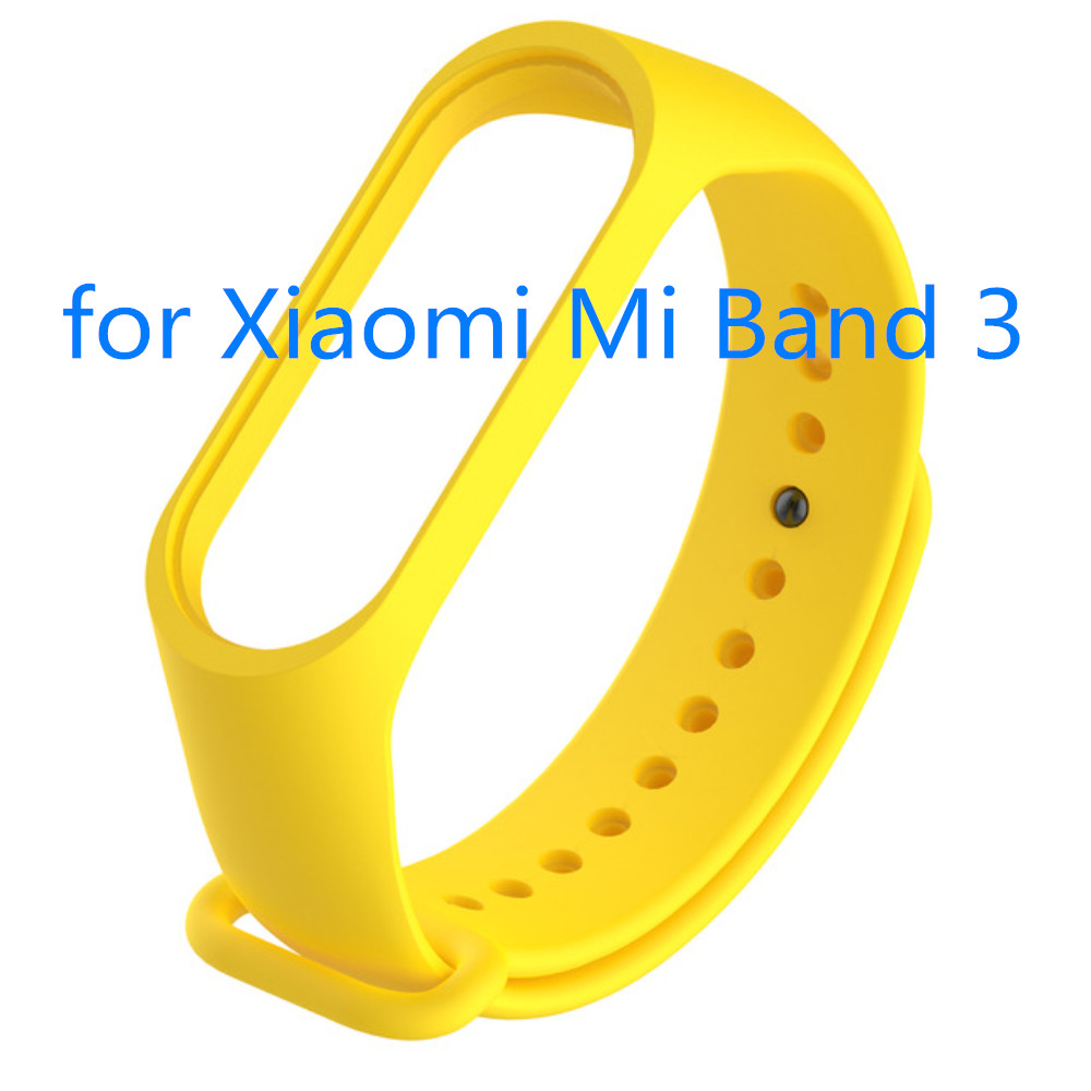 For Mi Band 3 Strap Soft Silicone Sport Wrist Strap For Pure Color Replacemet Water-proof Wristband For Mi Band Smart 3 Bracelet