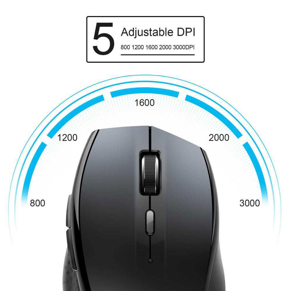 TeckNet Bluetooth ワイヤレスマウス 2.4 グラム 2600/2000/1600/1200/800 Dpi ワイヤレスマウス bluetooth 3.0 ノート Pc のコンピュータ用