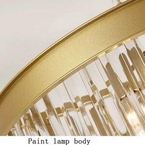 Image 5 - Jmmxiuz Современная круглая Золотая люстра, хрустальное освещение для ресторана, американская Хрустальная люстра