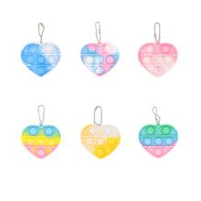 Rainbow Fidget stres zabawki spakuj swój kwadratowy antystresowy nowy Push Bubble Rainbow Pop dla dziecka Squishy Sensory Anti Stress Game tanie tanio CN (pochodzenie) 25-36m 4-6y