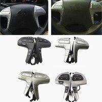 도요타 캠리 용 블루투스 84250-06180 UV 실버/골드 컬러 스티어링 휠 오디오 제어 버튼